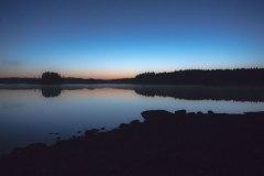 Det er like før soloppgang i Stora Le i Sverige