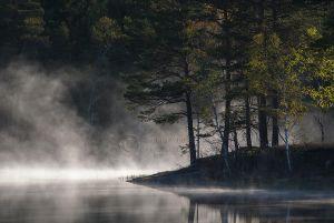 Morgentåke i Kornsjø